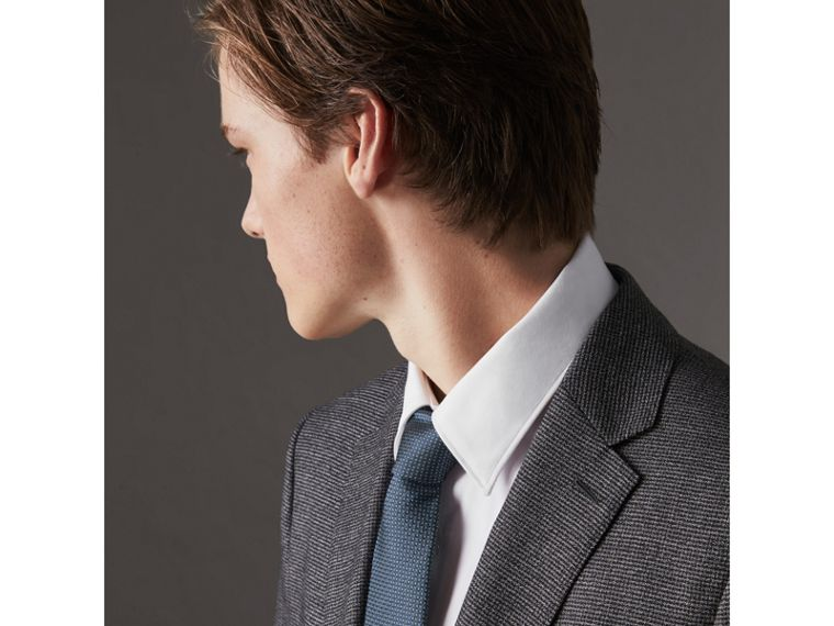 Modern Cut Patterned Silk Tie in Light Blue - Men | Burberry United States - cell image 2