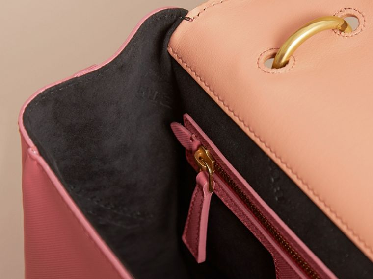 The Medium DK88 Top Handle Bag in Blossom Pink/pale Clementine - cell image 4