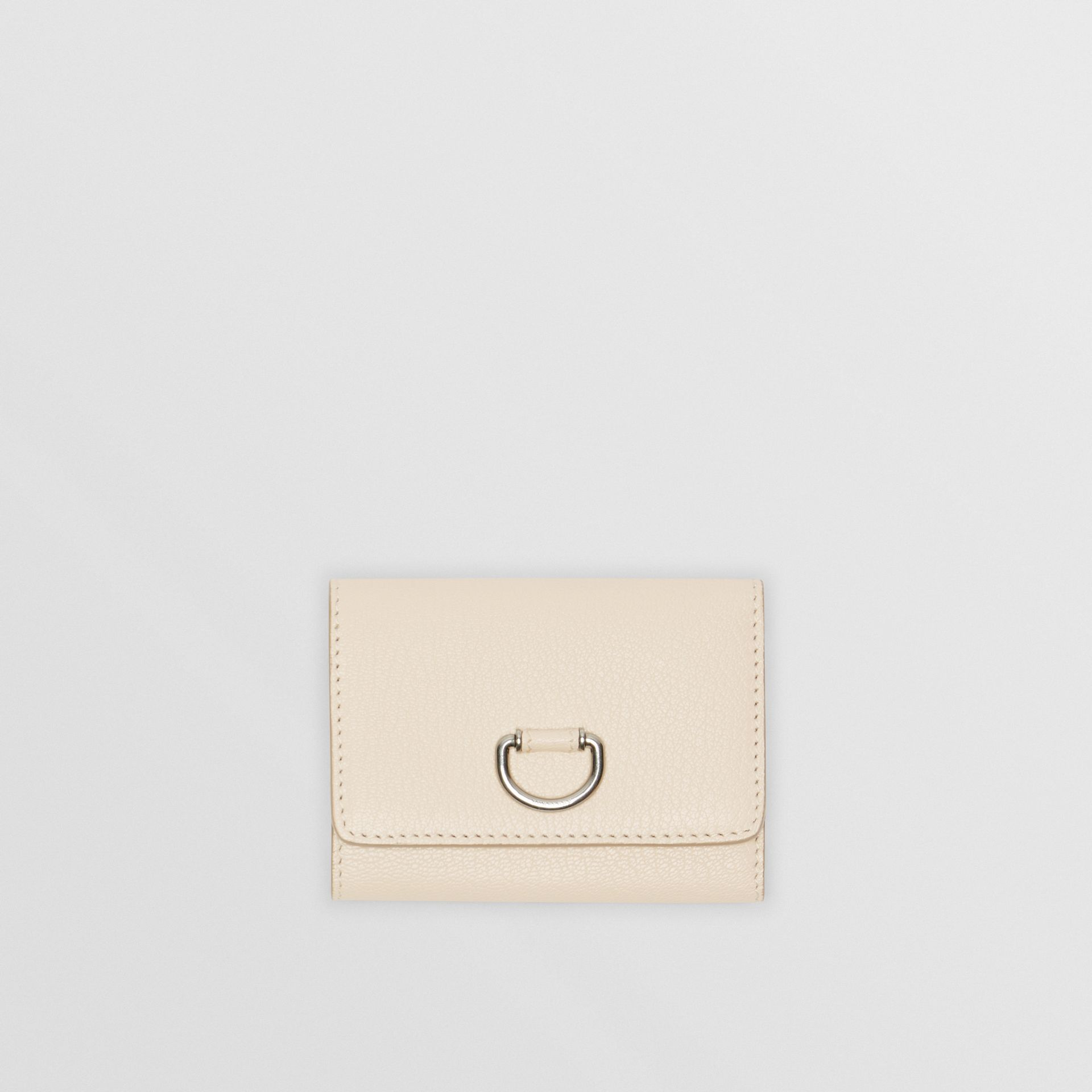 Small D-ring Leather Wallet in Stone - Women | Burberry - gallery image 0