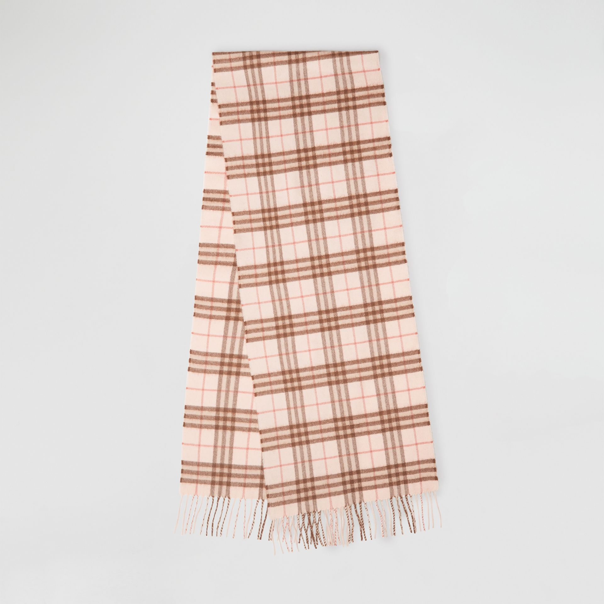 The Classic Vintage Check Cashmere Scarf in Ice Pink | Burberry - gallery image 0