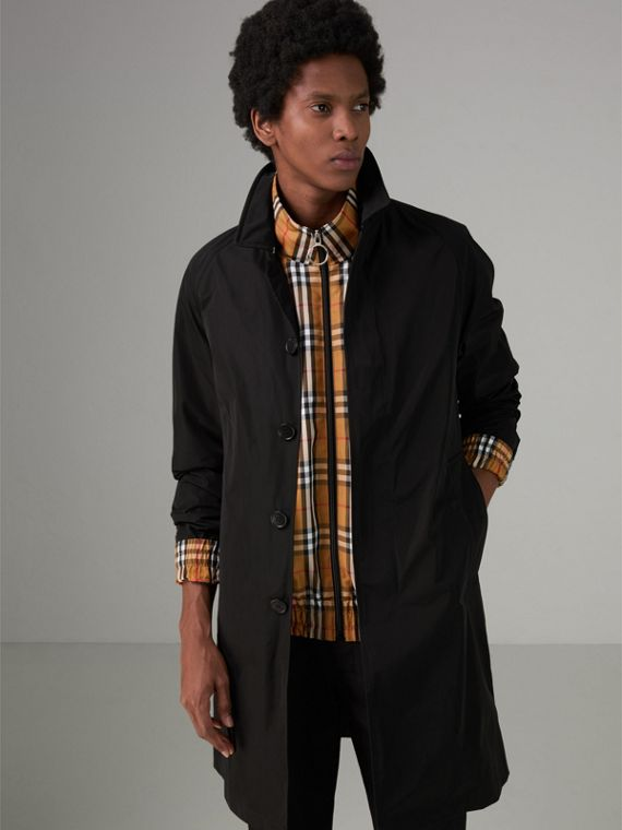 Shape-memory Taffeta Car Coat with Warmer in Black - Men | Burberry - cell image 3