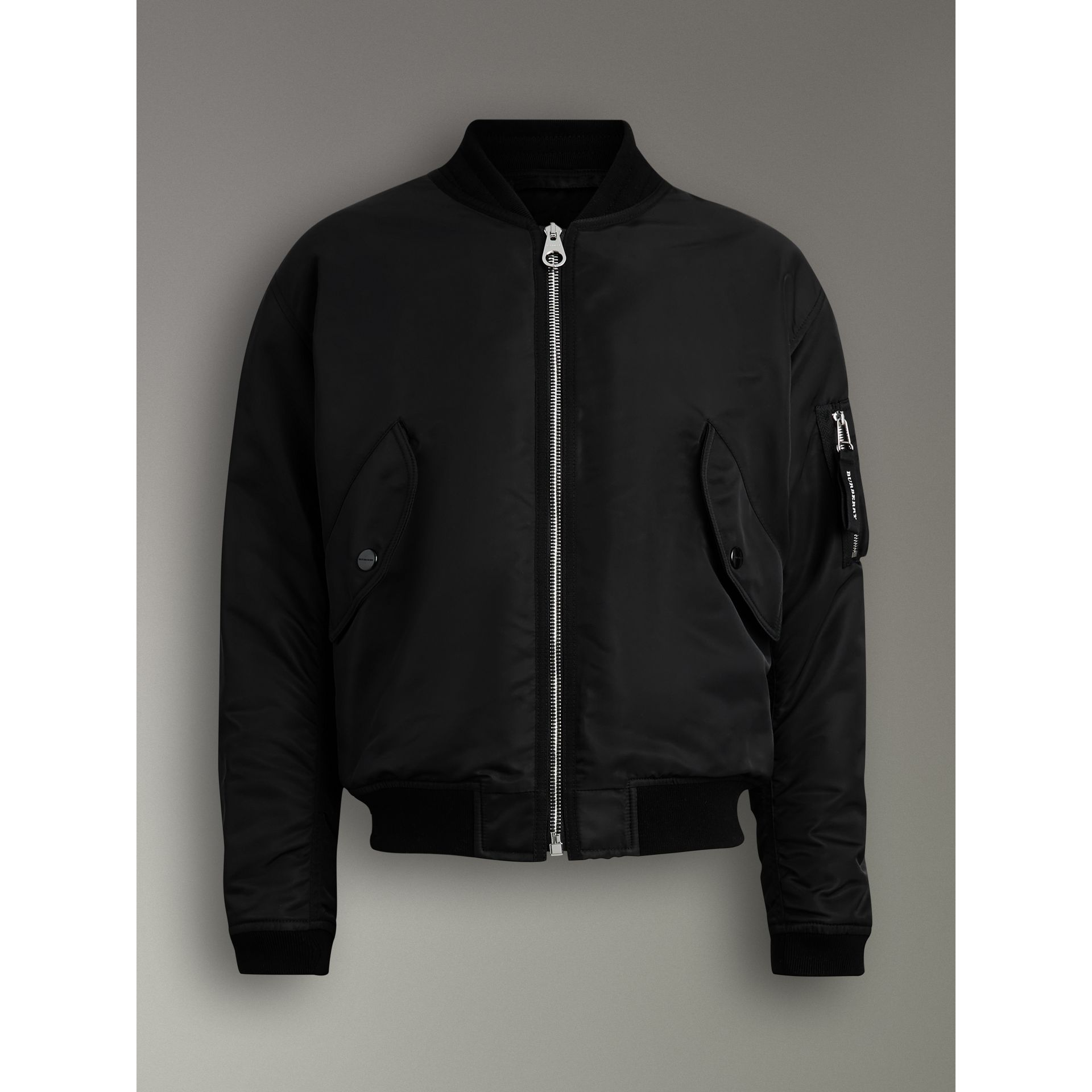 Nylon Bomber Jacket in Black | Burberry - gallery image 3
