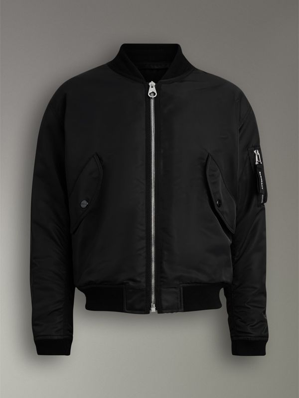 Nylon Bomber Jacket in Black | Burberry - cell image 3