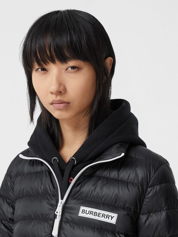 Logo Print Lightweight Puffer Jacket in Black - Women | Burberry Hong Kong S.A.R - cell image 1