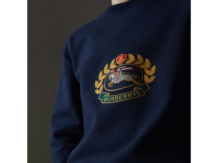 Reissued Jersey Sweatshirt in Dark Blue - Men | Burberry Singapore - cell image 1