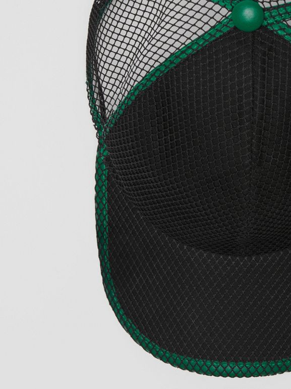 Vintage Check and Mesh Baseball Cap in Black | Burberry Australia - cell image 1