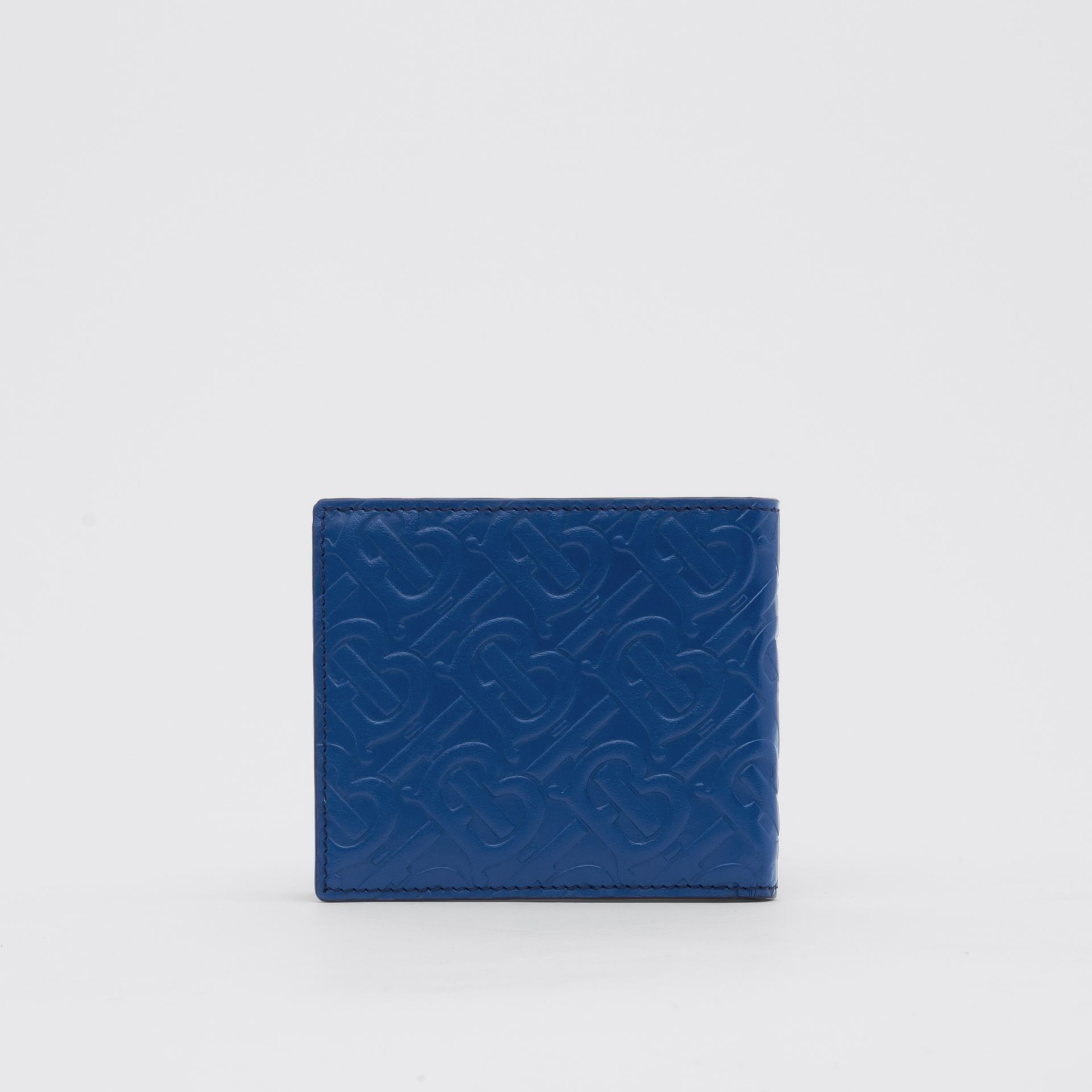 Monogram Leather International Bifold Wallet in Pale Canvas Blue - Men | Burberry United States - gallery image 4