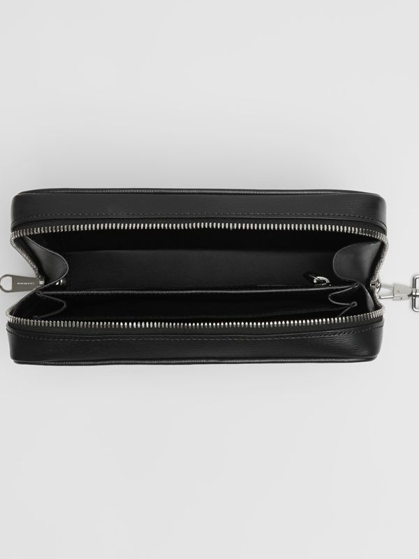 London Leather Travel Pouch in Black - Men | Burberry - cell image 3
