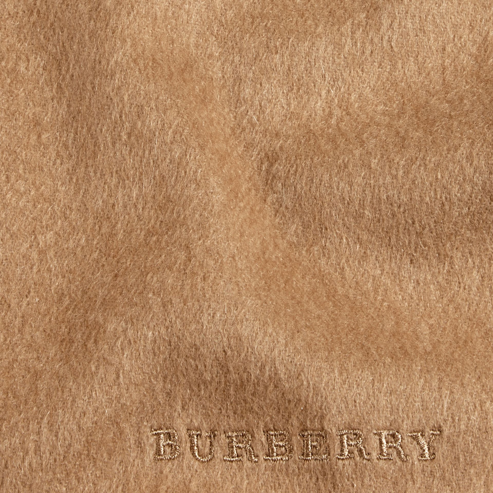 The Mini Classic Cashmere Scarf in Camel | Burberry Australia - gallery image 4