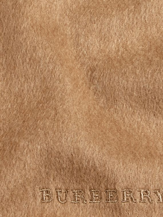 The Mini Classic Cashmere Scarf in Camel - cell image 3