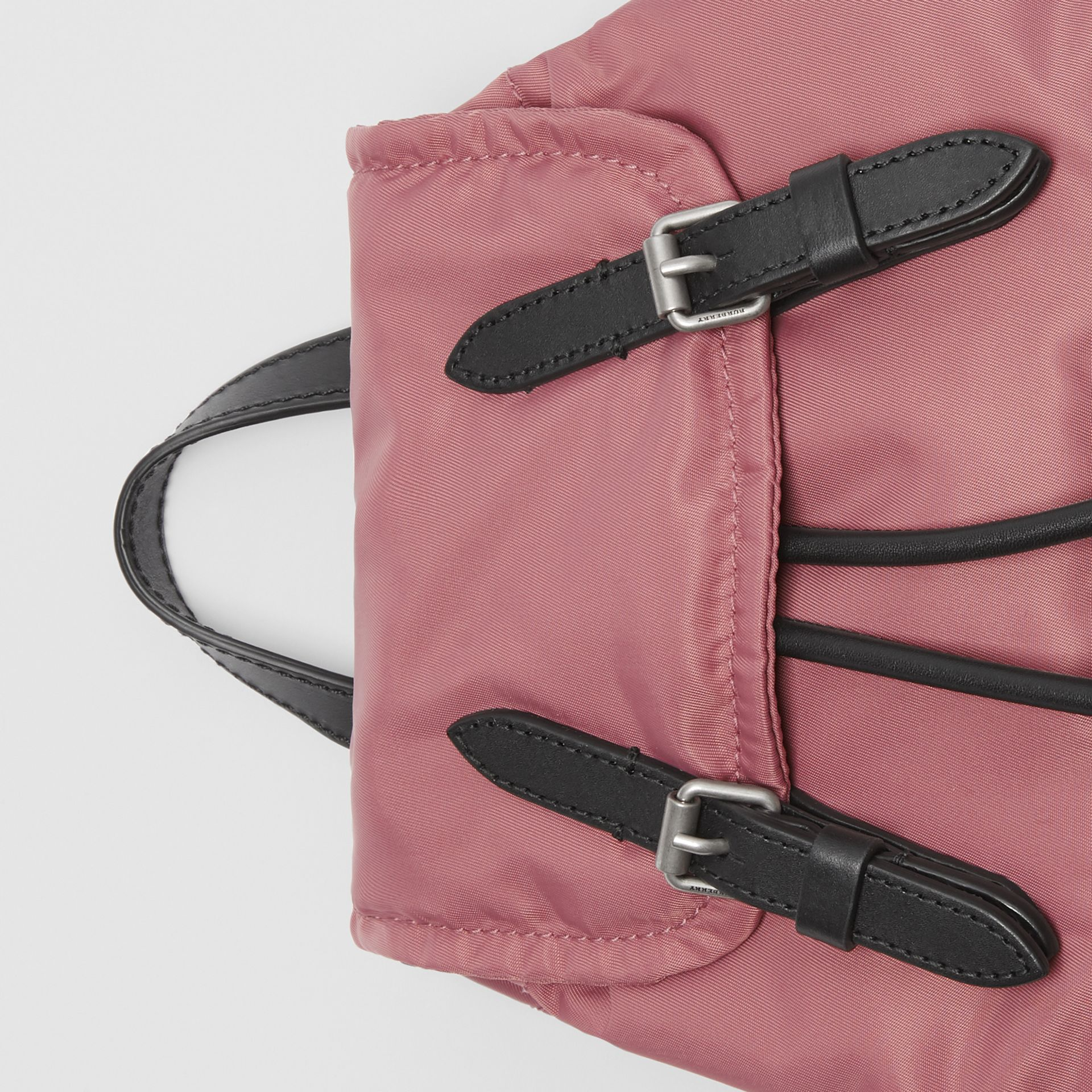 The Small Crossbody Rucksack in Puffer Nylon in Mauve Pink - Women | Burberry - gallery image 1