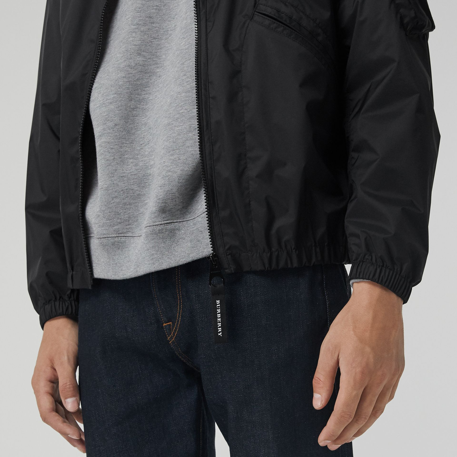 Flyweight Nylon Hooded Bomber Jacket in Black - Men | Burberry United States - gallery image 4