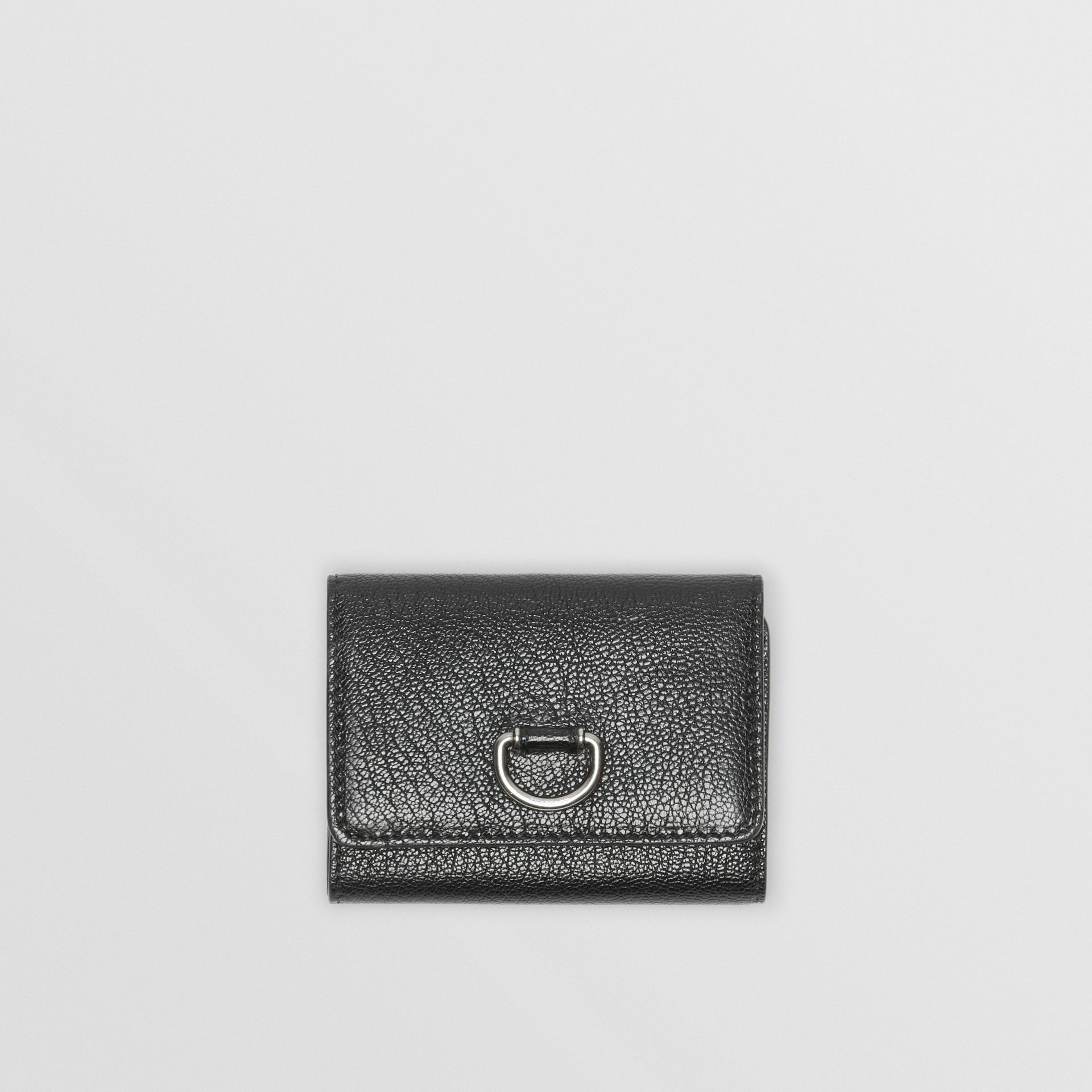 Small D-ring Leather Wallet in Black - Women | Burberry - gallery image 0