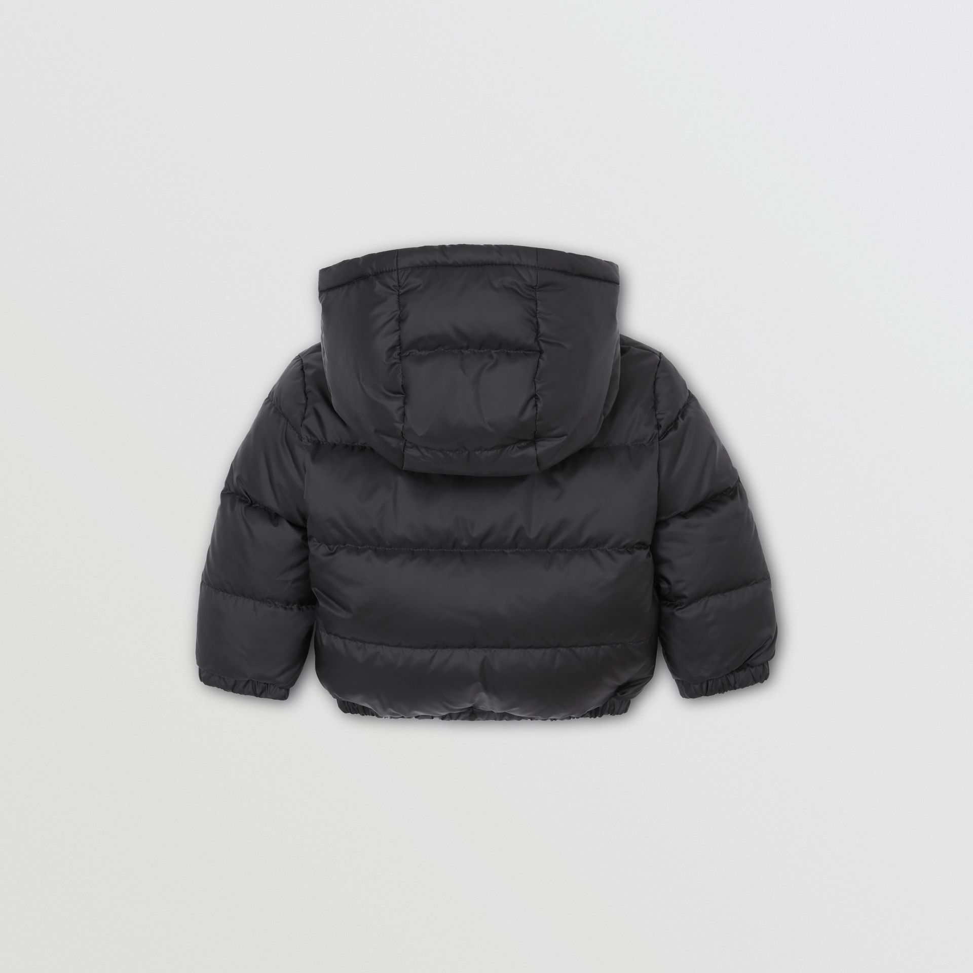 Reversible Vintage Check Down-filled Puffer Jacket in Black - Children | Burberry Singapore - gallery image 5
