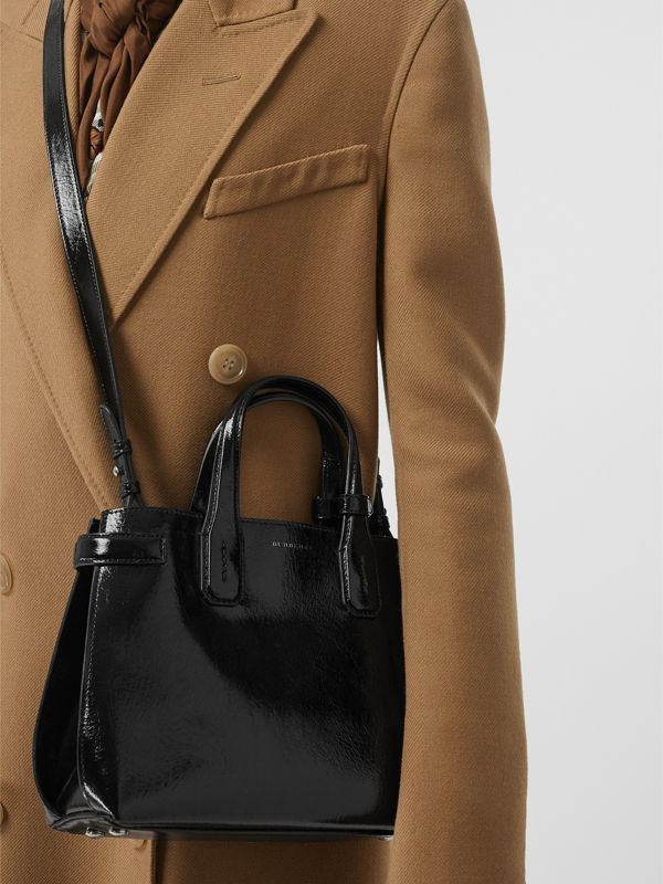The Small Soft Leather Banner in Black - Women | Burberry - cell image 3