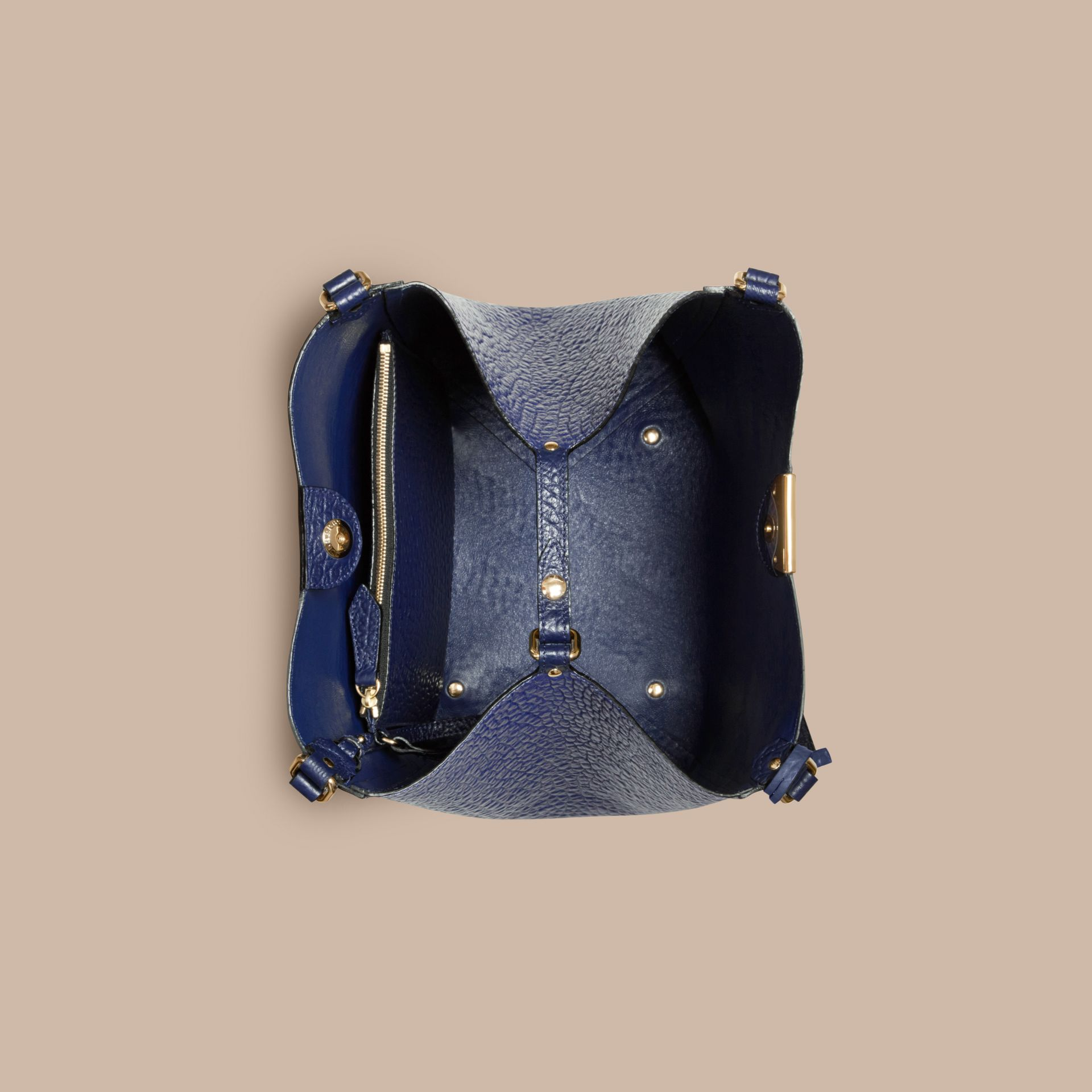 Blue carbon The Small Canter in Check Embossed Leather Blue Carbon - gallery image 5