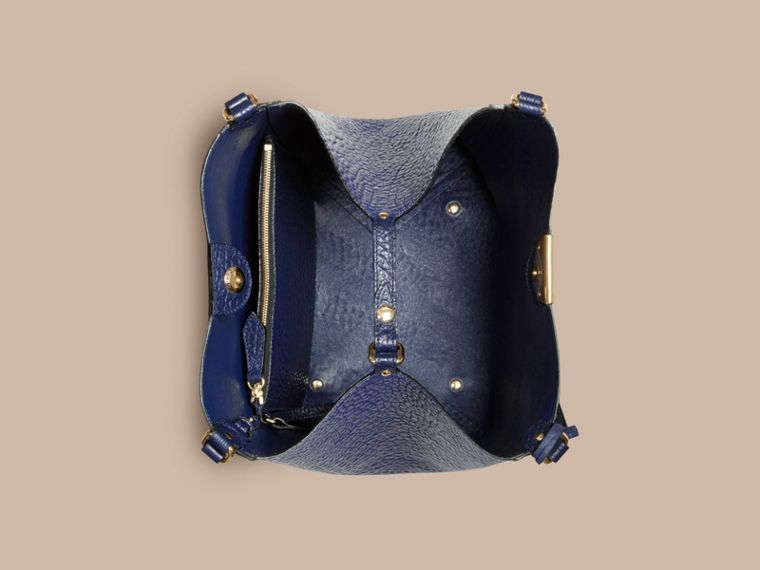 Blue carbon The Small Canter in Check Embossed Leather Blue Carbon - cell image 4