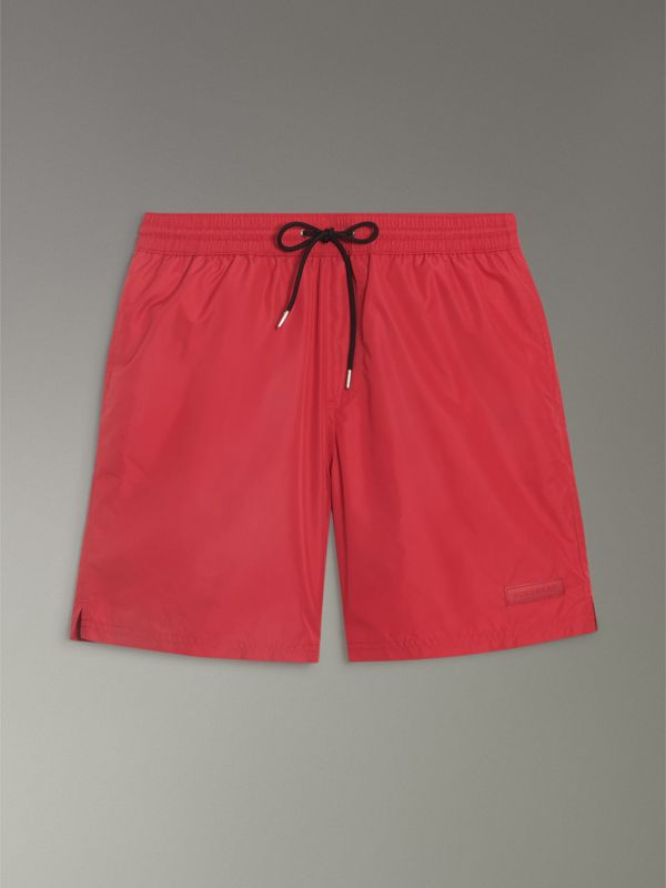 Drawcord Swim Shorts in Parade Red - Men | Burberry - cell image 3