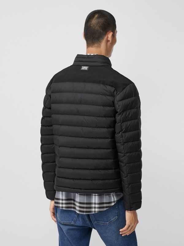 Logo Graphic Lightweight Puffer Jacket in Black - Men | Burberry - cell image 2