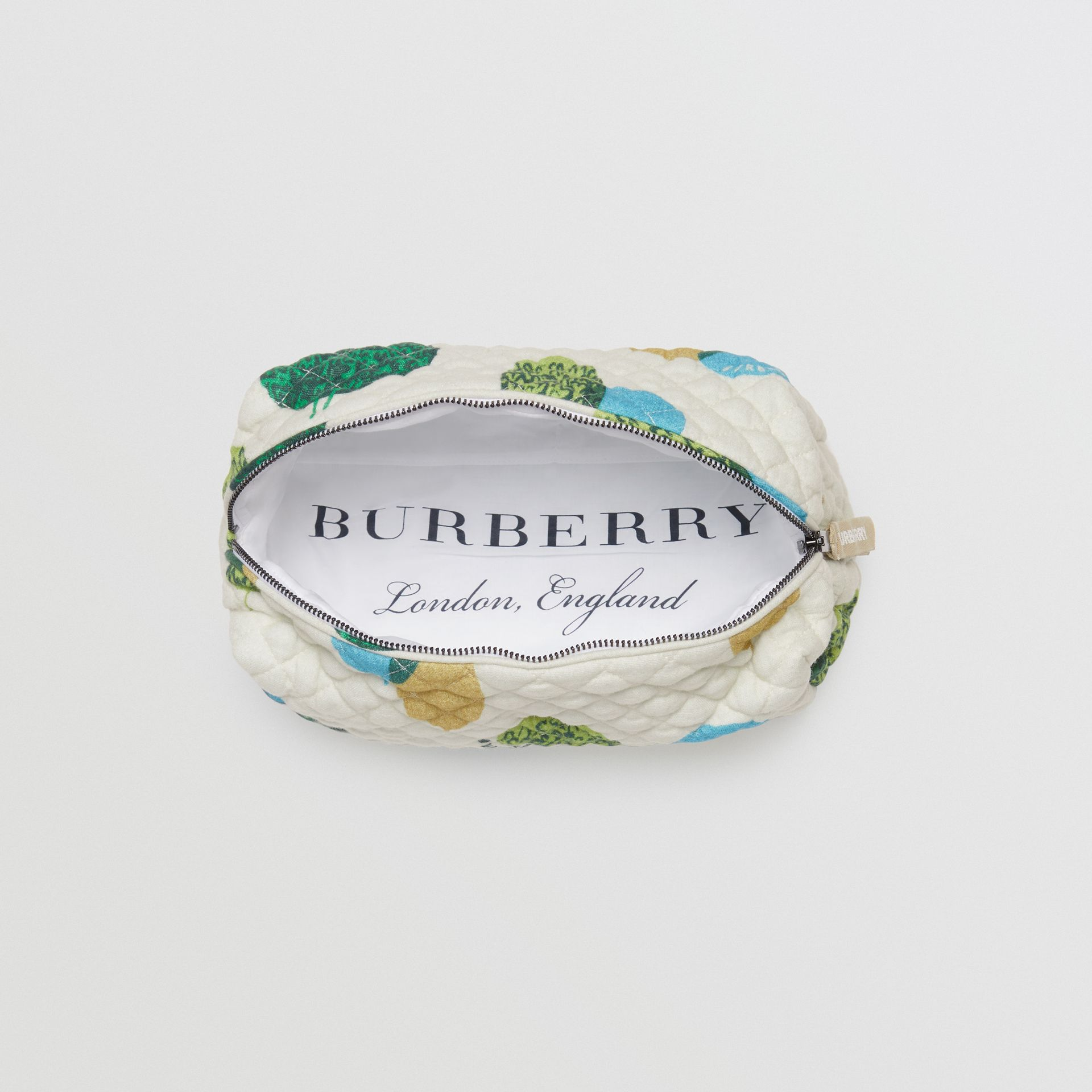 Carrot and Tree Print Three-piece Baby Gift Set in Stone - Children | Burberry - gallery image 5