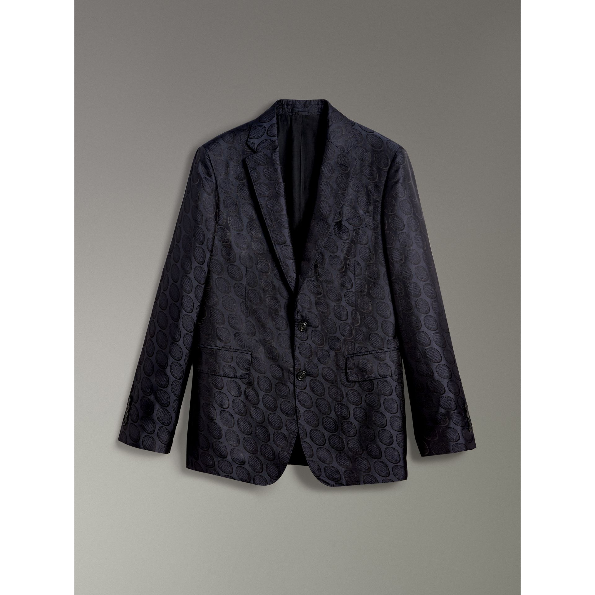 Soho Fit Spot Silk Evening Jacket in Midnight Blue - Men | Burberry Australia - gallery image 3