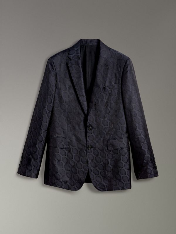 Soho Fit Spot Silk Evening Jacket in Midnight Blue - Men | Burberry Australia - cell image 3