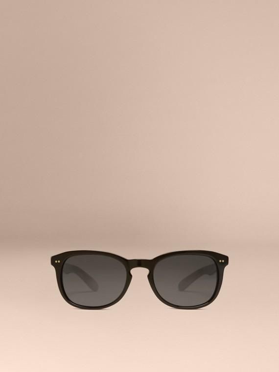Black Square Frame Sunglasses Black - cell image 2