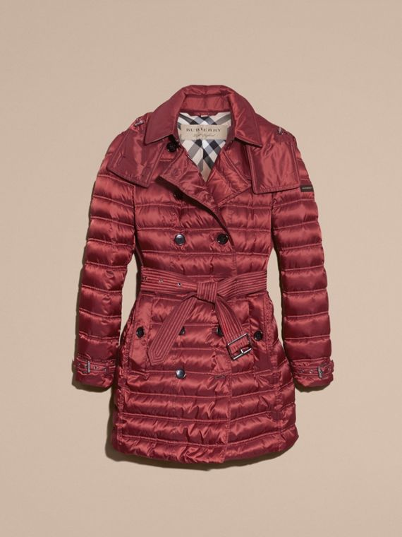 Dark crimson Down-filled Puffer Coat Dark Crimson - cell image 3