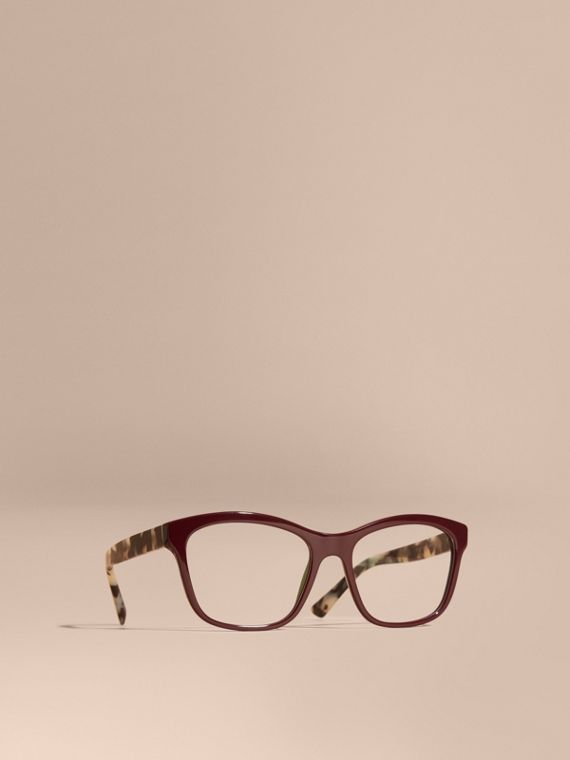Check Detail Square Optical Frames Oxblood