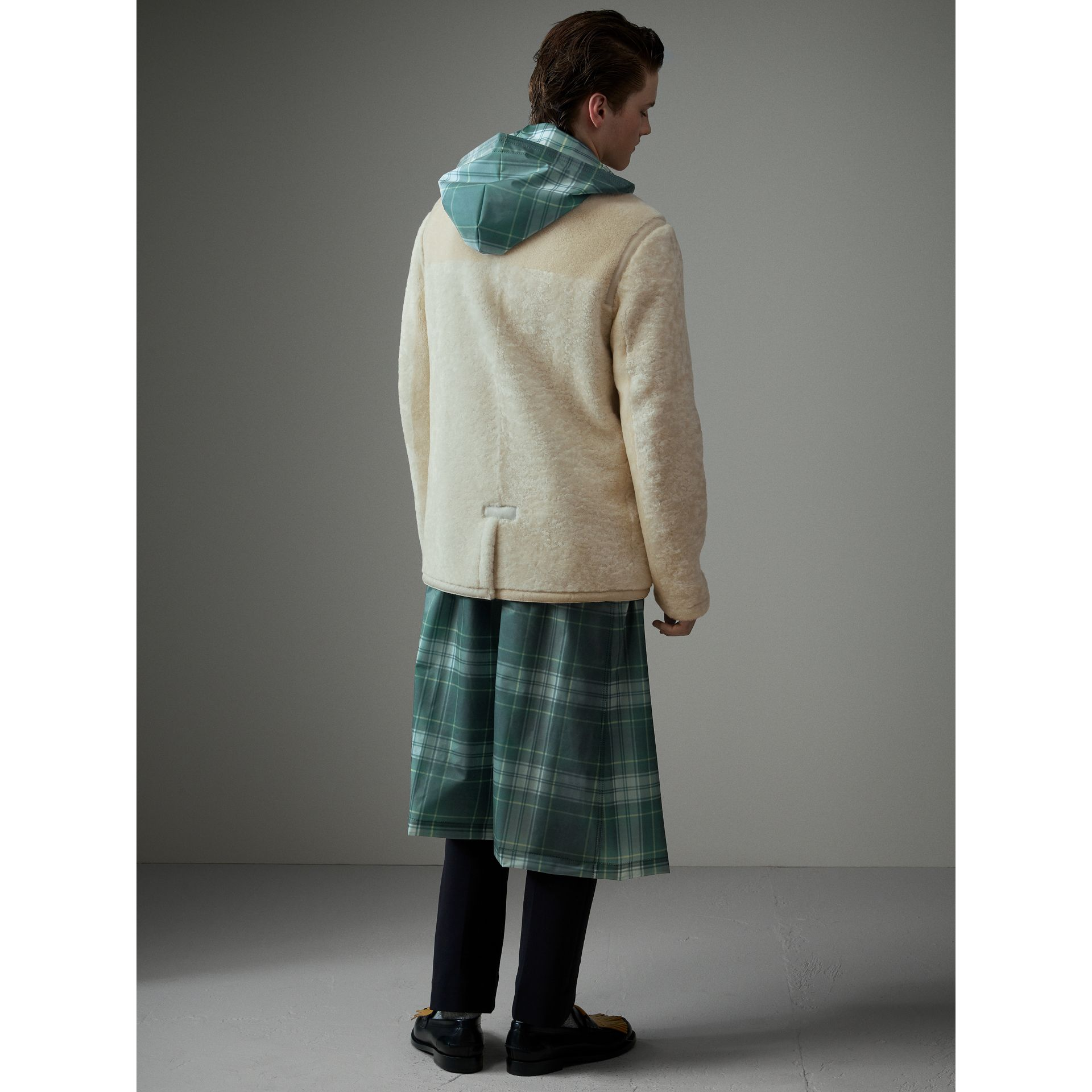 Shearling Jacket in White - Men | Burberry - gallery image 2