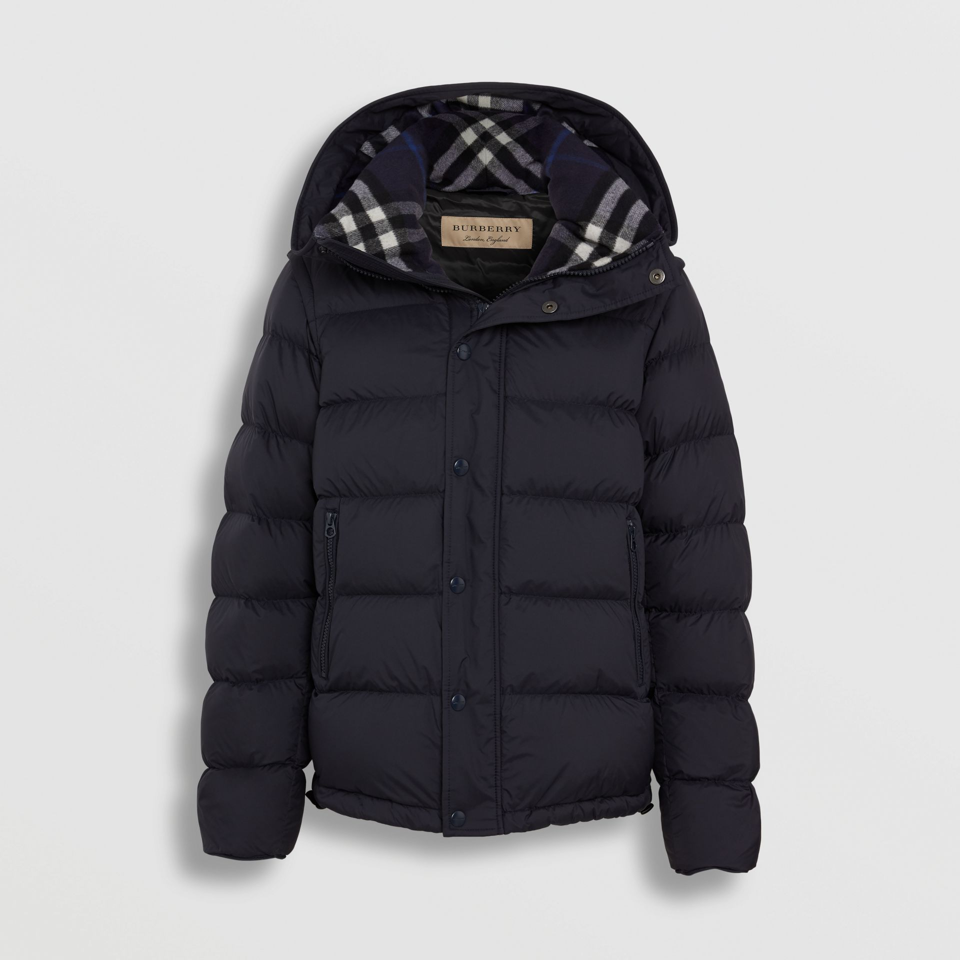 Detachable-sleeve Down-filled Hooded Puffer Jacket in Navy - Men | Burberry United Kingdom - gallery image 3