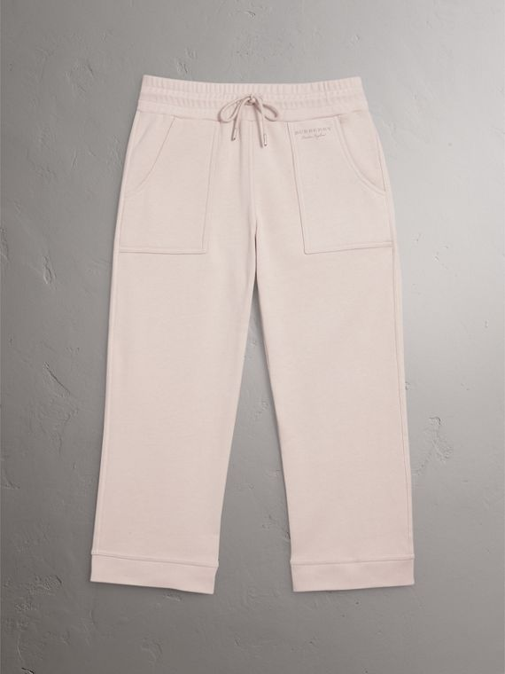 Cropped Jersey Sweatpants in Winter White - Women | Burberry - cell image 3