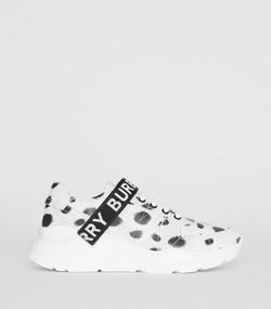 f3c01e7403d Animal Print Leather Sneakers in Off White