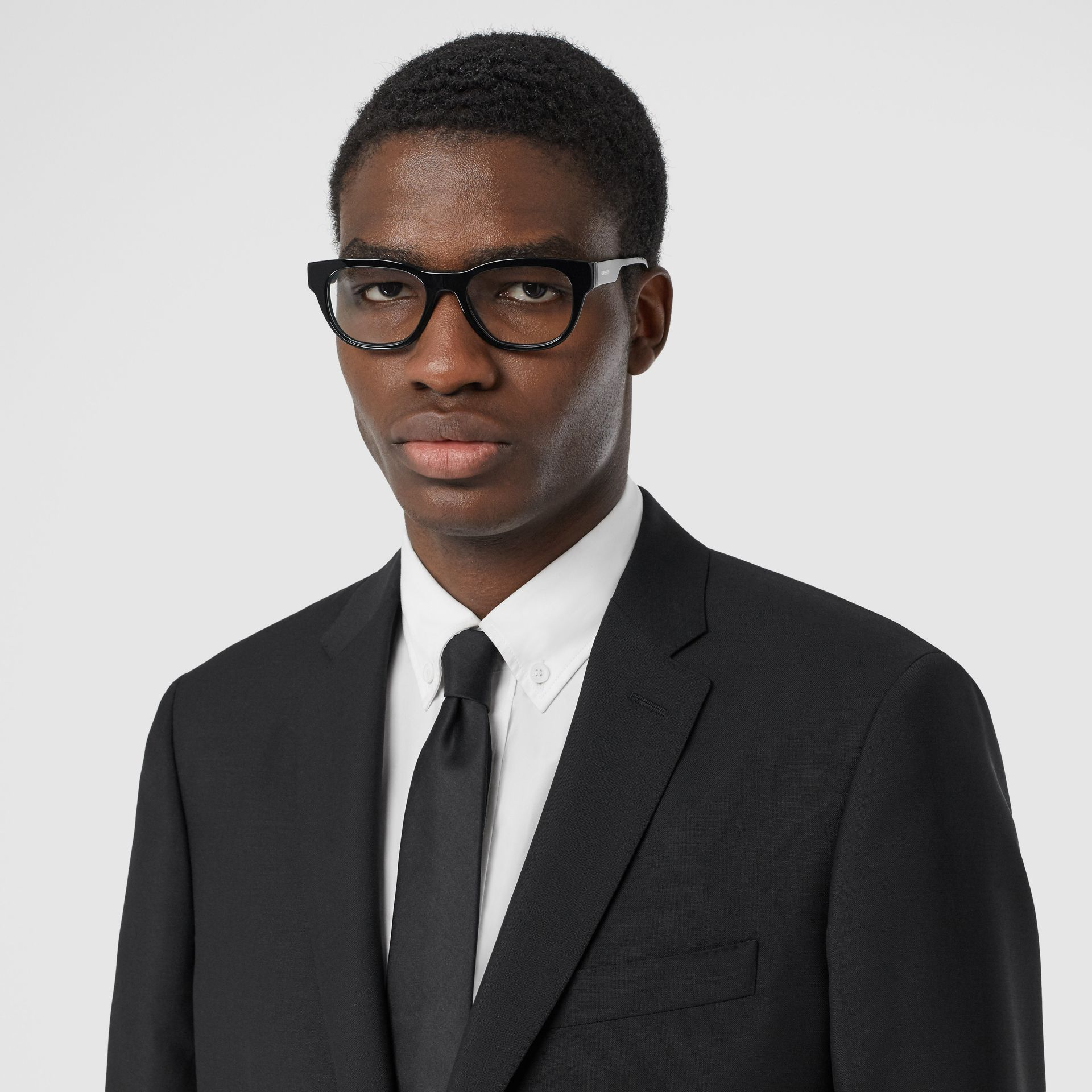 Slim Fit Wool Mohair Suit in Black - Men | Burberry Hong Kong S.A.R - gallery image 1
