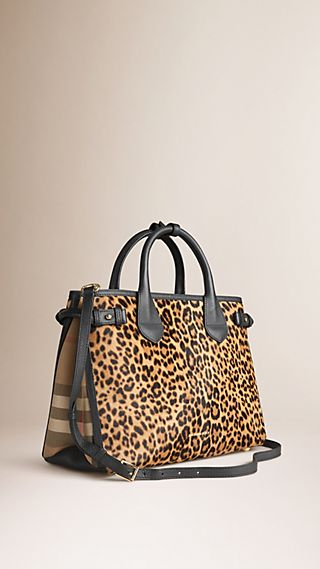 The Medium Banner in Animal Print Calfskin