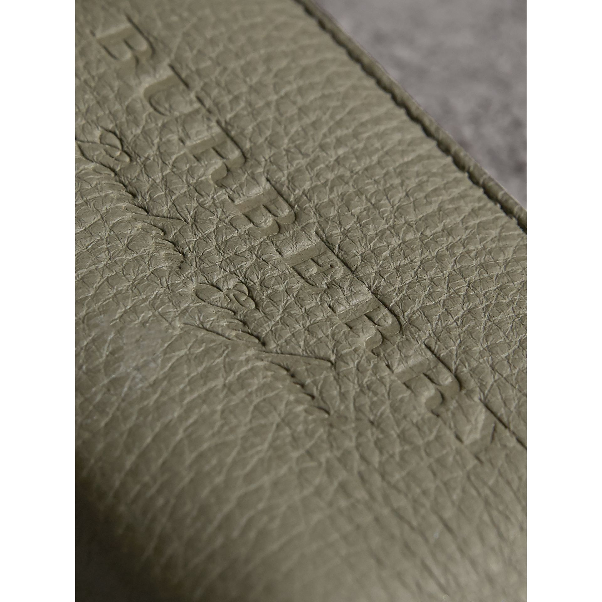 Textured Leather Ziparound Coin Case in Slate Green - Men | Burberry - gallery image 2