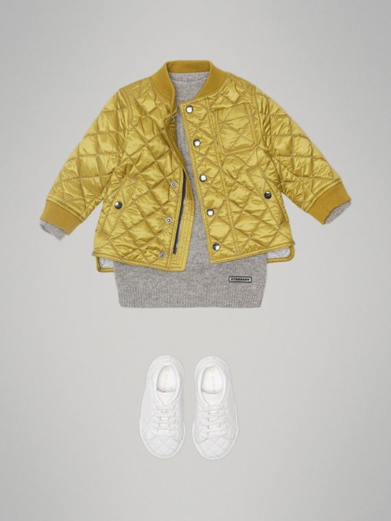 Lightweight Diamond Quilted Jacket in Saffron Yellow | Burberry - cell image 2