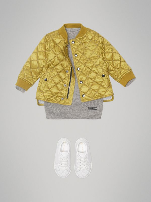 Lightweight Diamond Quilted Jacket in Saffron Yellow - Children | Burberry - cell image 2