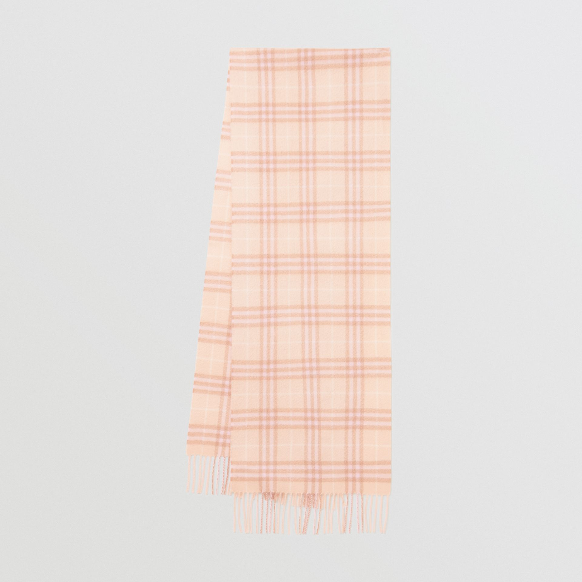 The Classic Vintage Check Cashmere Scarf in Dusty Pink | Burberry Singapore - gallery image 0