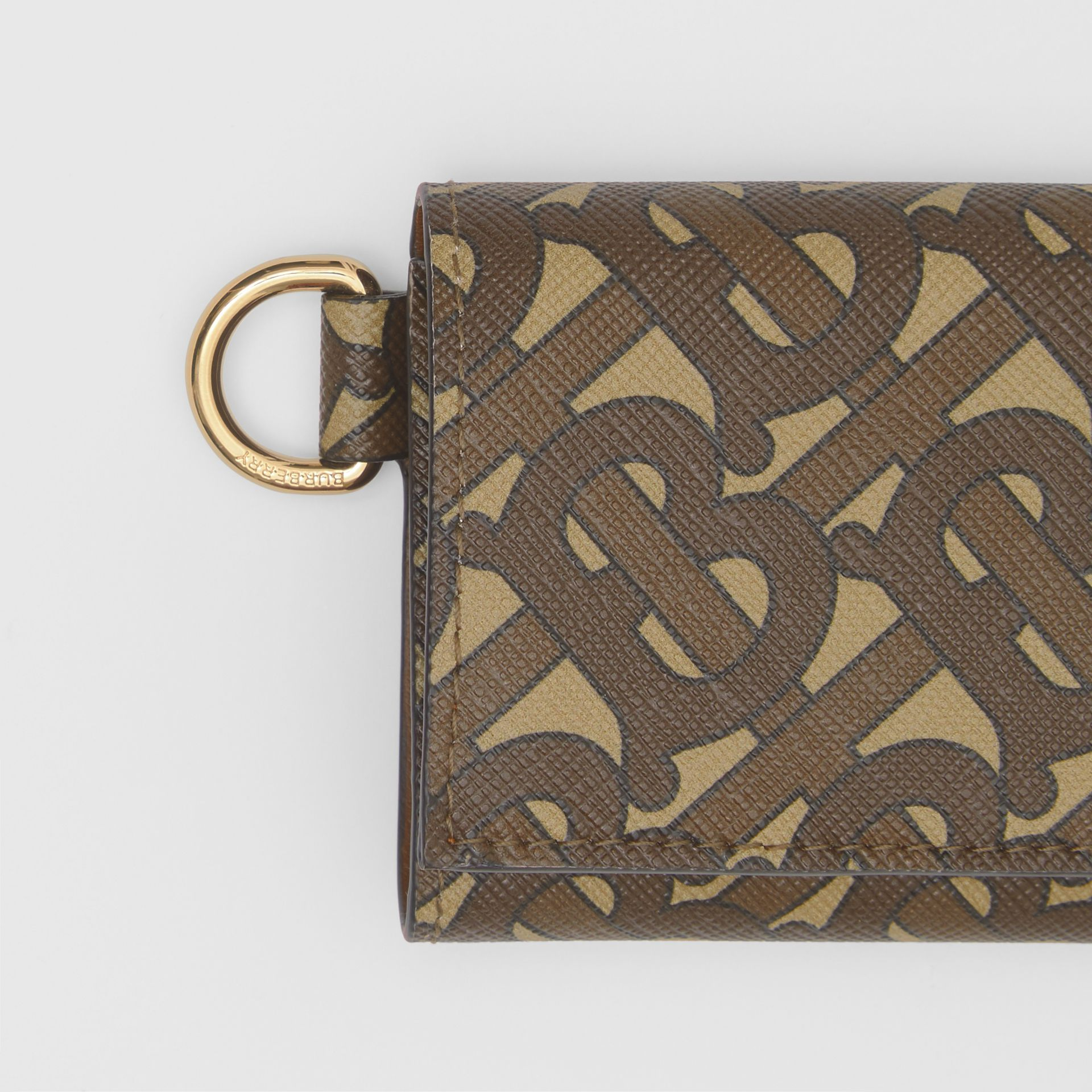 Small Monogram Print E-canvas Folding Wallet in Bridle Brown - Men | Burberry United Kingdom - gallery image 1