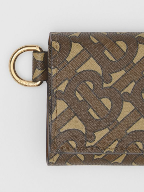 Small Monogram Print E-canvas Folding Wallet in Bridle Brown - Men | Burberry United Kingdom - cell image 1