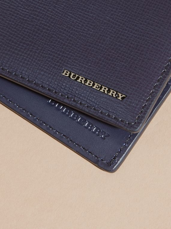 London Leather International Bifold Wallet in Dark Navy | Burberry - cell image 3