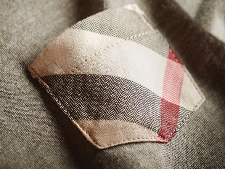 Check Pocket Cotton Jersey T-shirt | Burberry - cell image 1