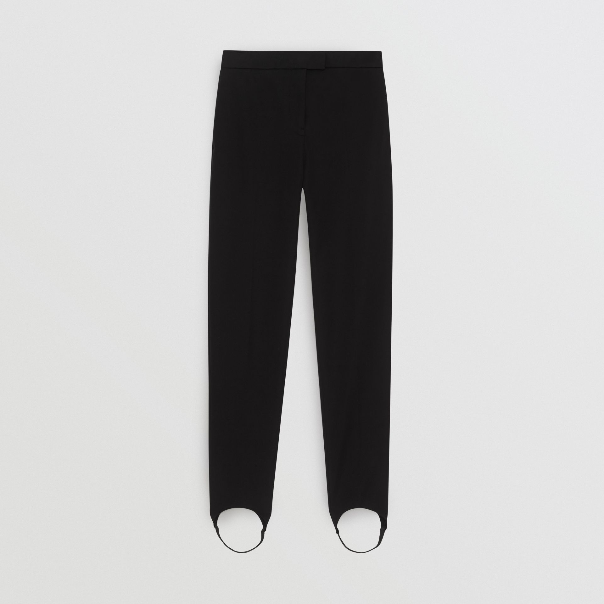 Cotton Blend Tailored Jodhpurs in Black - Women | Burberry United States - gallery image 3