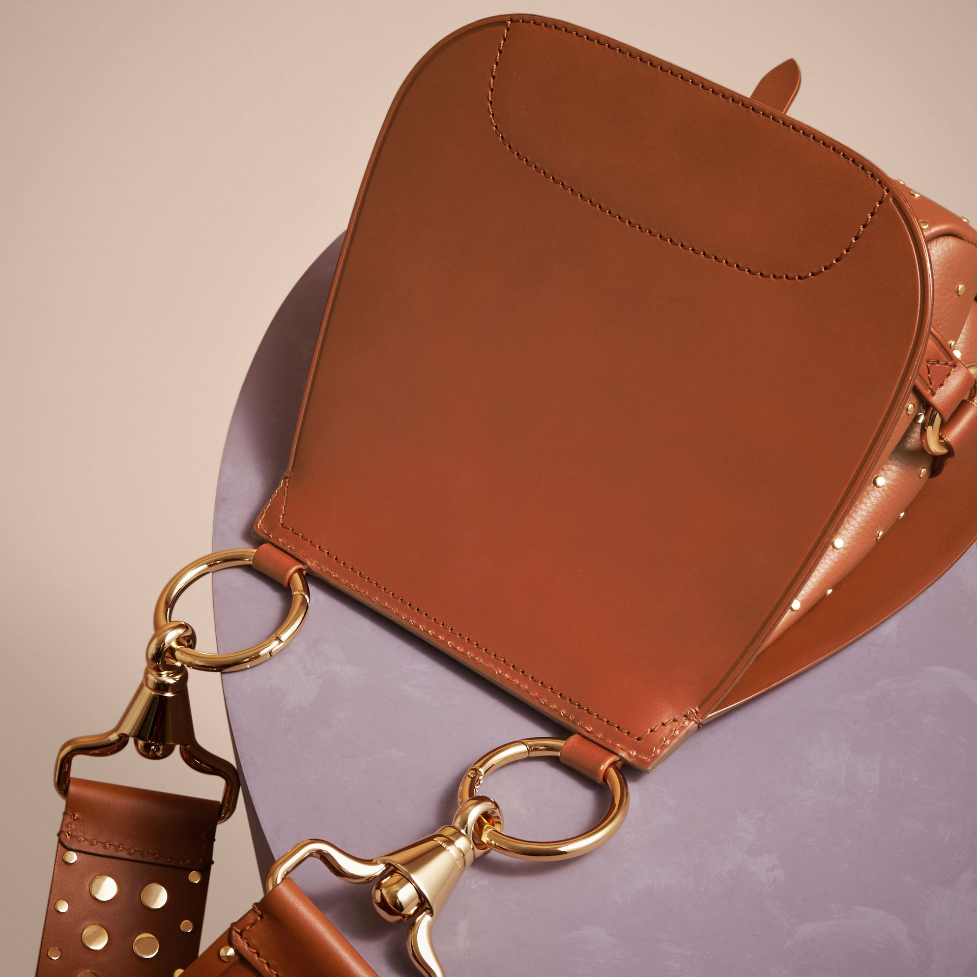 Tan The Bridle Bag in Leather and Rivets - gallery image 5