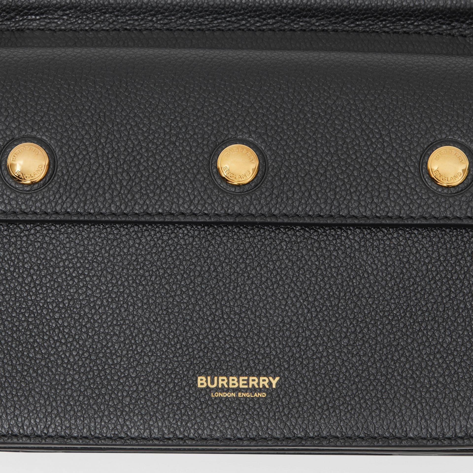 Mini Leather Title Bag with Pocket Detail in Black - Women | Burberry - gallery image 8