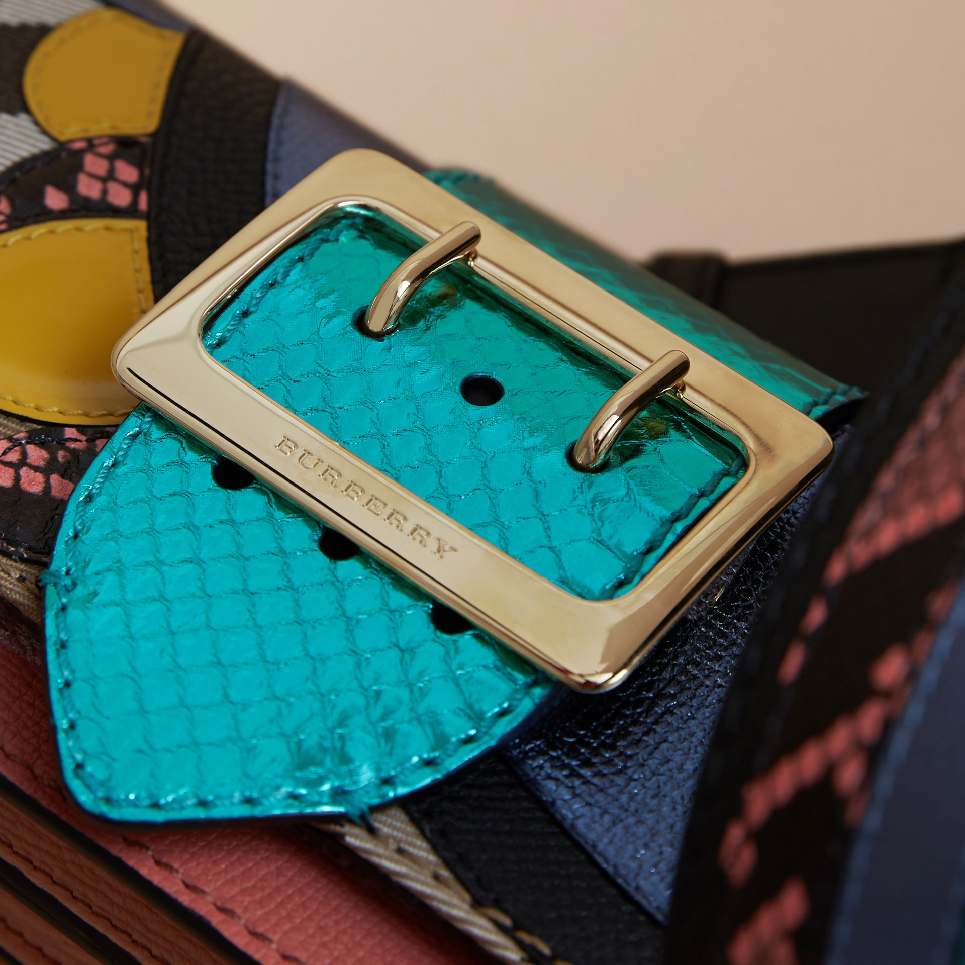 The Small Buckle Bag in House Check and Leather - gallery image 7