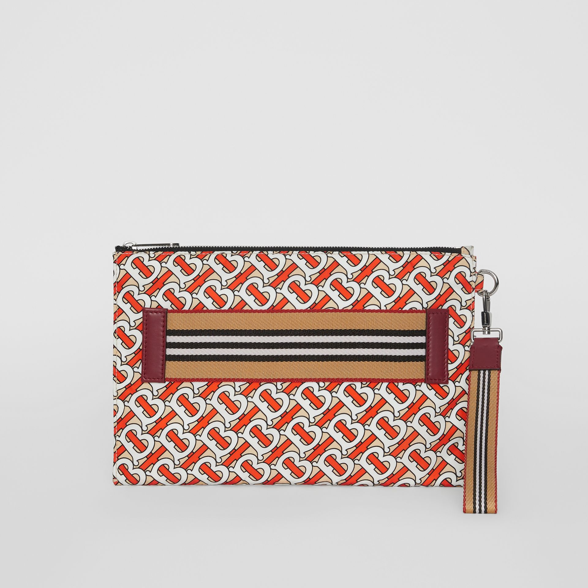 Monogram Print Zip Pouch in Vermilion | Burberry Singapore - gallery image 2