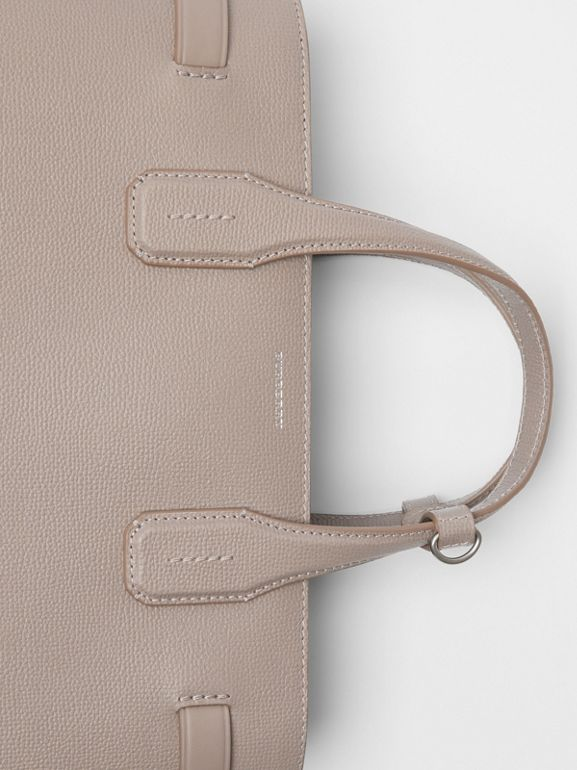 The Medium Banner in Leather and Vintage Check in Taupe Brown - Women | Burberry Singapore - cell image 1