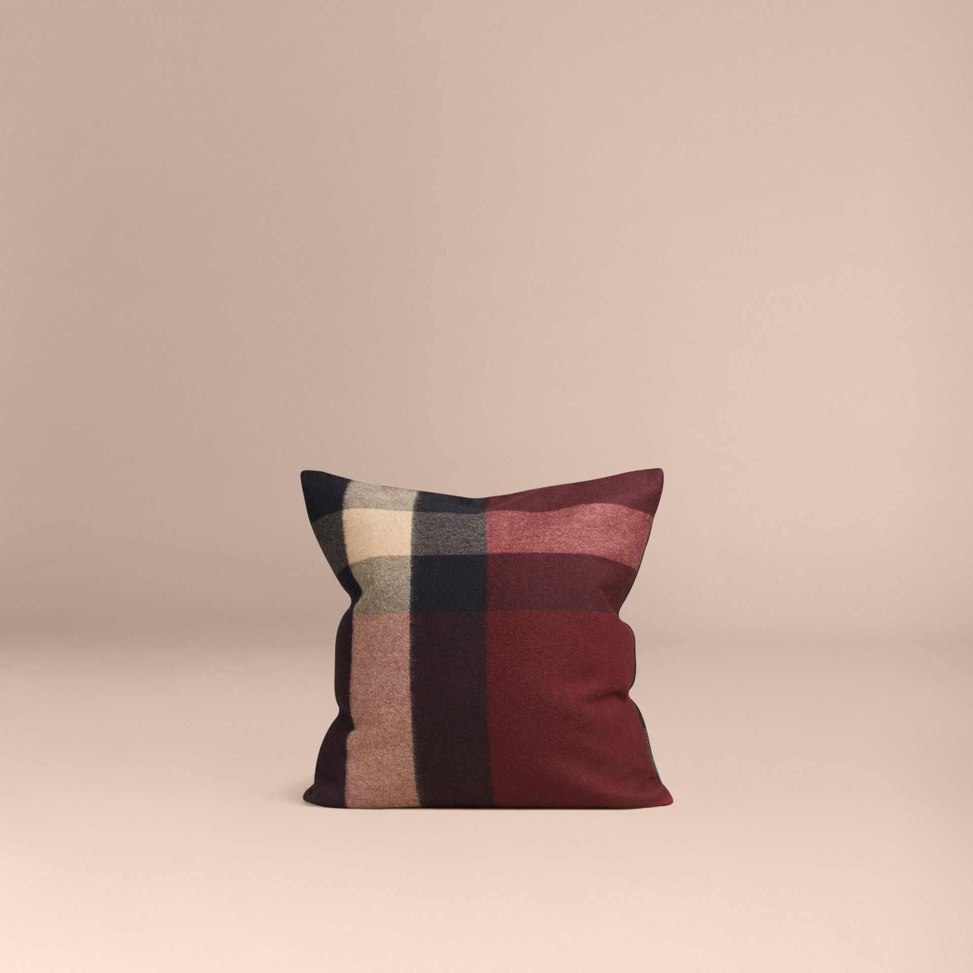 Claret Check Cashmere Cushion Cover Claret - gallery image 3
